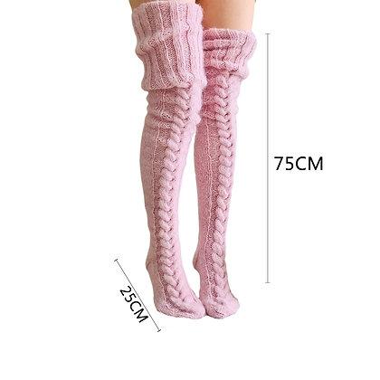 Crimping Thigh-High Socks