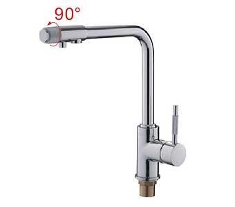 """""""LEDEME"""" L4155-3 Смеситель для кухни с питьевым краном"""