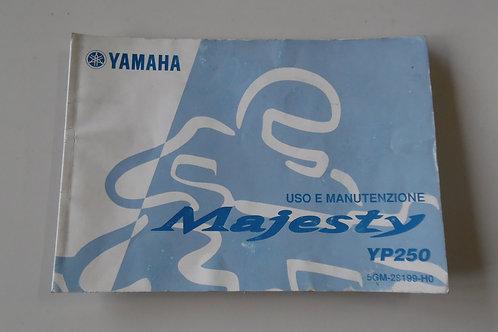 LIBRETTO USO e MANUTENZ. | Yamaha Majesty 250
