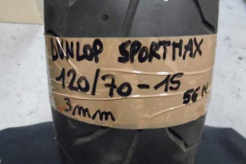 PNEUMATICO Dunlop SportMax 120-70-15 56H | usura 3mm