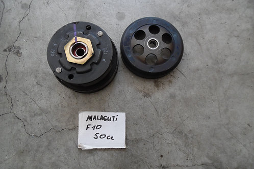 Gruppo campana-frizione-pulegge usate malaguti f10 50cc