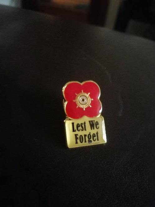 Lest we forget, poppy lapel pins