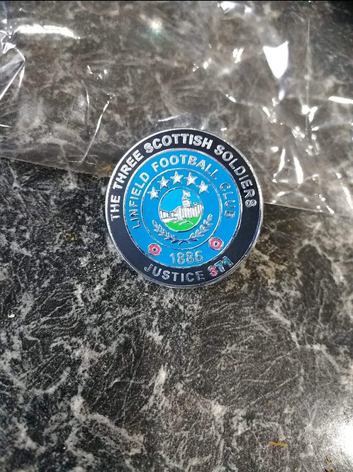 Linfield football justice371 badge