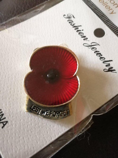 Lest we forget poppy brooch.