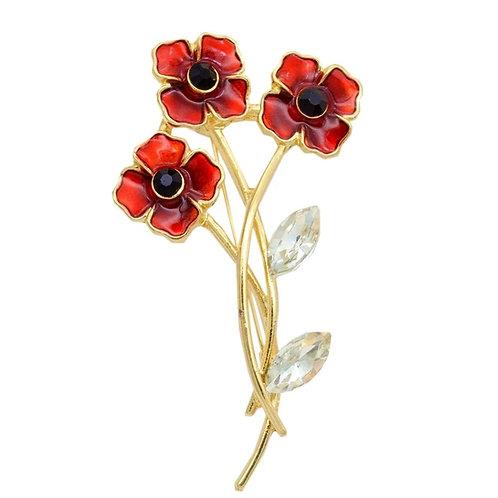 Remembrance Crystal poppy flower
