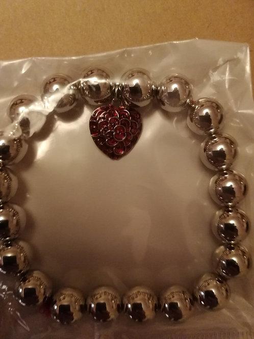 Poppy heart bracelet