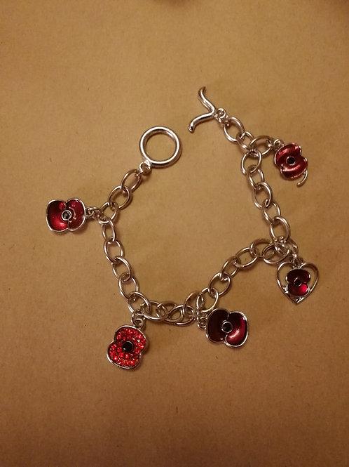Poppy charm bracelets