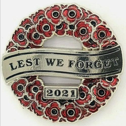 Lest we forget poppy badges 2021