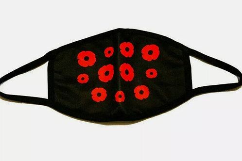 RED POPPY FACE COVERING