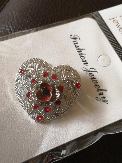 Silver poppy heart
