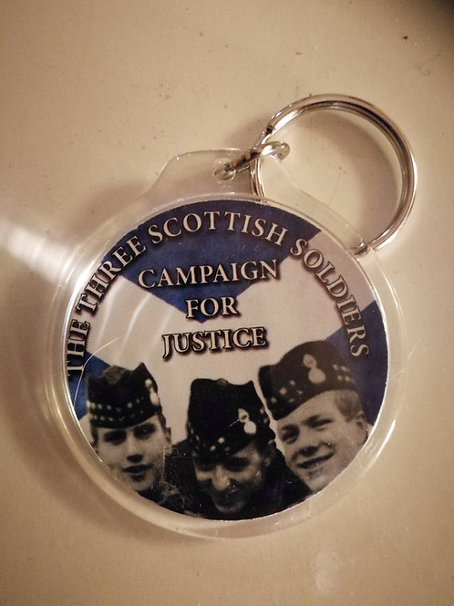 Three scottish soldiers keyrings