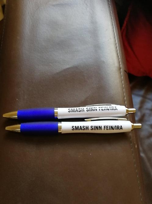 Blue pens x2