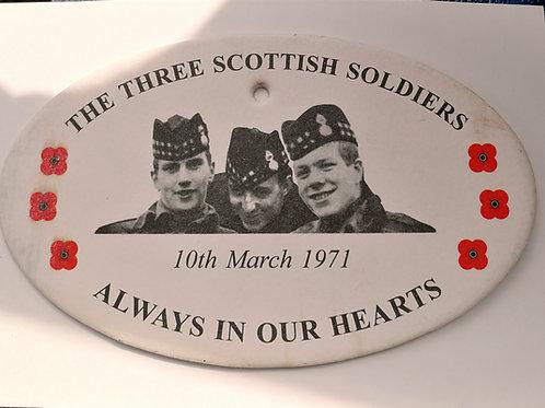 Three scottish soldiers airfreshners x2
