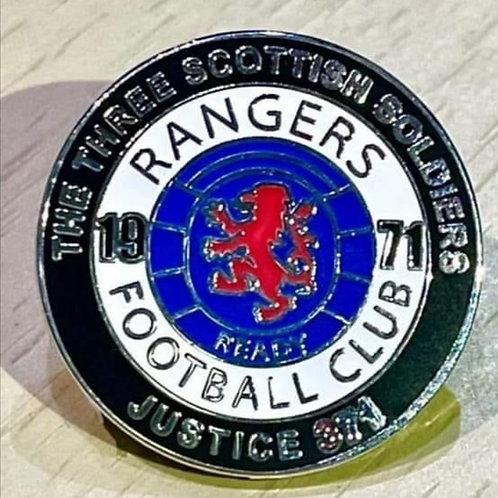 Justice371 Campaign football pin