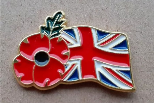 Union flag poppy Badge's