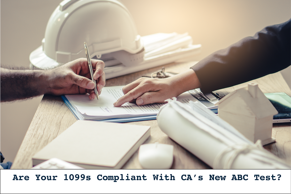 1099 independent contractor ABC Test California Law Classification