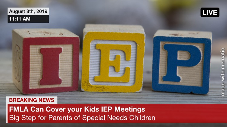 IEP meetings covered by FMLA