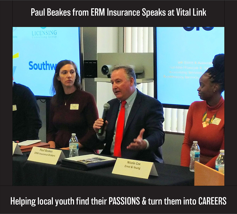 Paul Beakes speaking at a Vital Link Conference