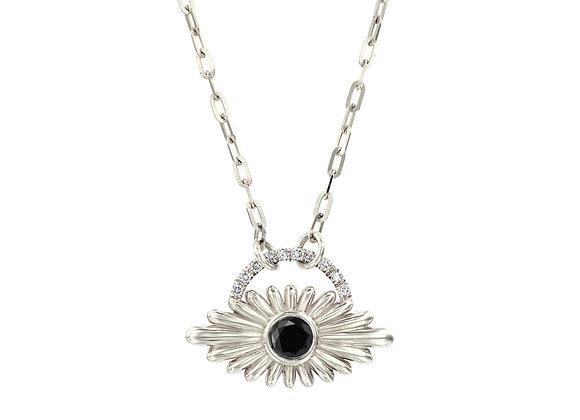 Art Deco Inspired Evil Eye Diamond Necklace