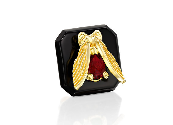 Ruby Insect Stud Earring