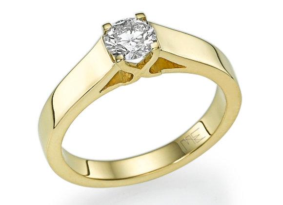 Wide Swan Engagement Ring