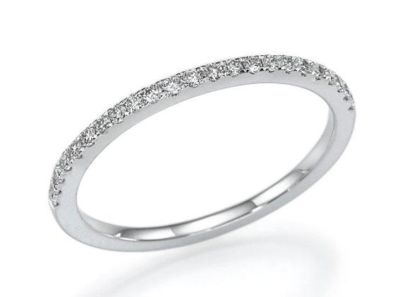 Delicate Round Pave Diamonds Band