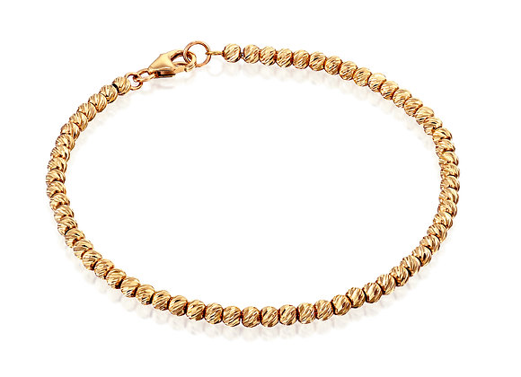 Dainty 14k Rose Gold Shiny Stacking Bracelet