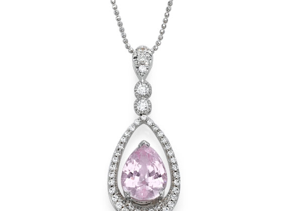 Morganite and Diamonds Necklace