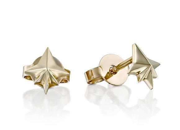 TINY 18K GOLD STAR STUD EARRINGS