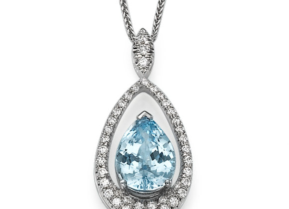 Aquamarine and Diamonds necklace