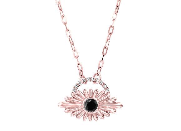 Art Deco Inspired Evil Eye Black Diamond Necklace