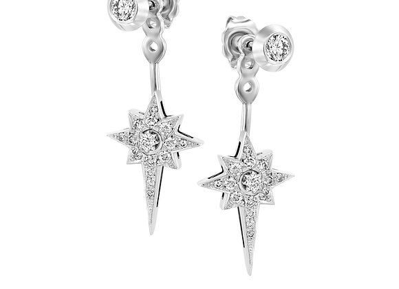 Diamond Starburst Back-Front Bridal Earrings