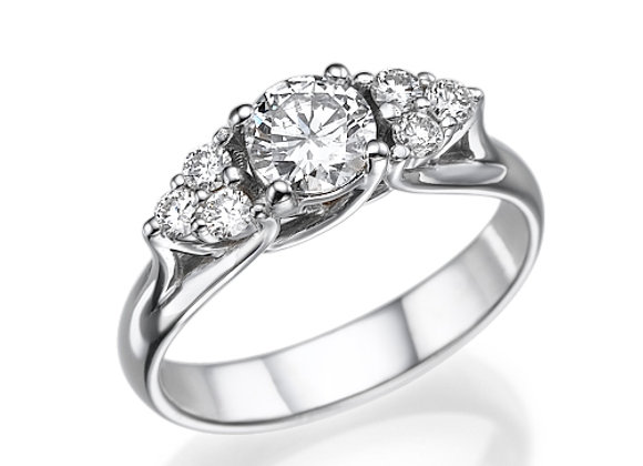 3Stones Round Diamonds Engagement Ring