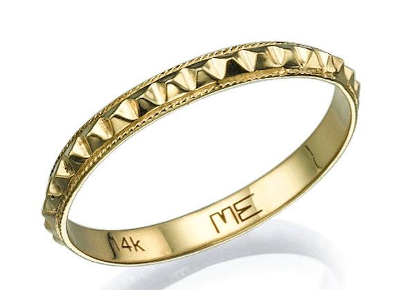 Pyramids Gold Ring