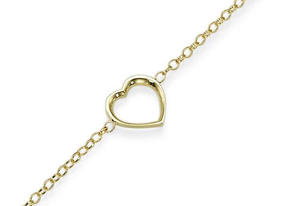 Heart Bracelet 18k Yellow gold
