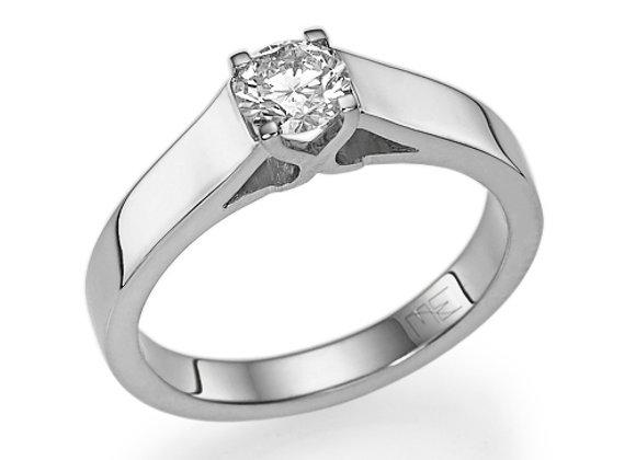 White Swan Engagement Ring