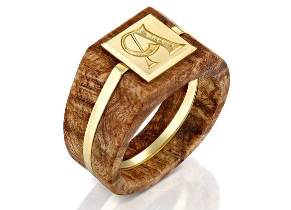 Men's Wood Signet Ring