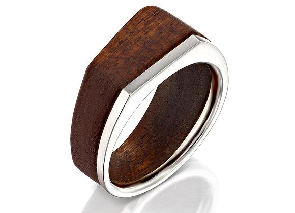 Minimalist Silver Mahogany Ring