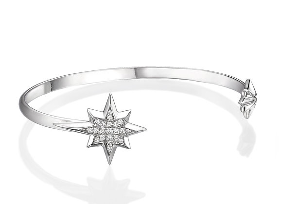14k Gold & Diamonds Star cuff bracelet