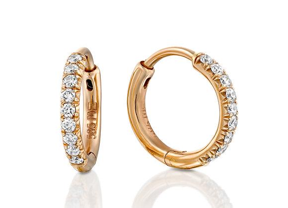 SMALL HOOP DIAMONDS EARRINGS