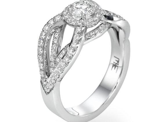 Hagar halo engagement ring
