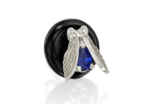 Sapphire White Gold Stud Earrings