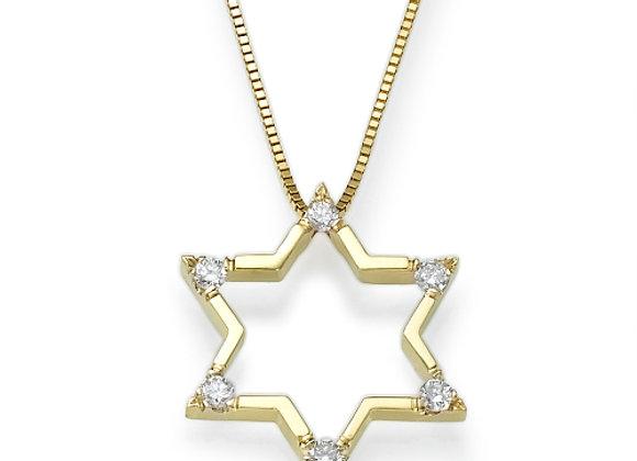 Magen David Diamonds Necklace for Men