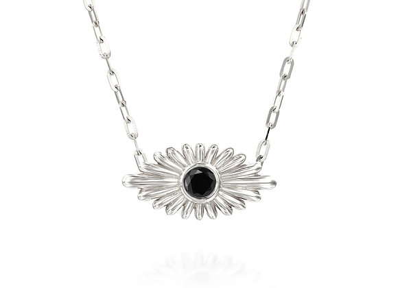 Art Deco Inspired Evil Eye Diamond Necklace