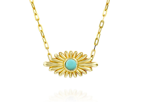 Art Deco Inspired Evil Eye turquoise Necklace