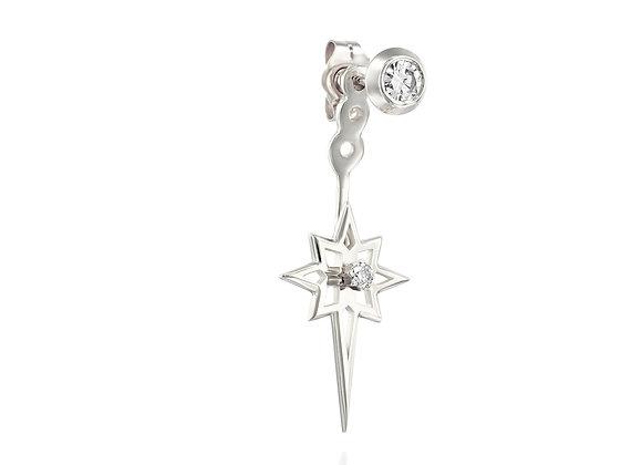 Starburst Ear Jacket, Gold & Diamonds