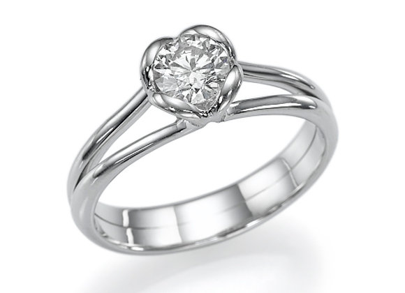 Lily Heart Engagement Ring