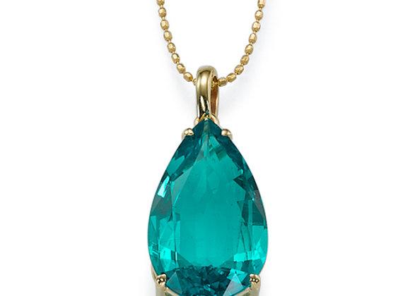 Pear cut Emerald Pendant