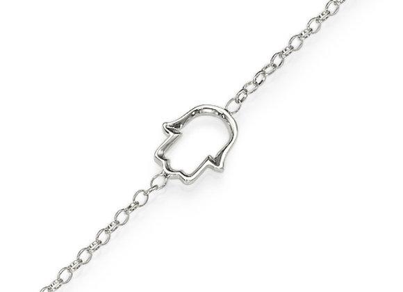 Hamsa Bracelet 18k White gold