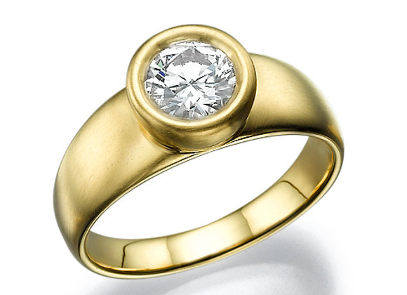 Clara Diamond ring bezel setting